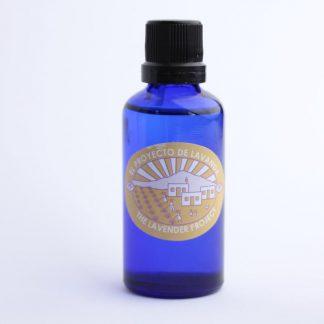 Aceite esencial de lavanda 50ml. Frasco azul