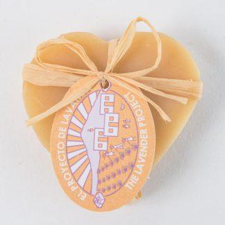 Jabón miel limón forma de corazón